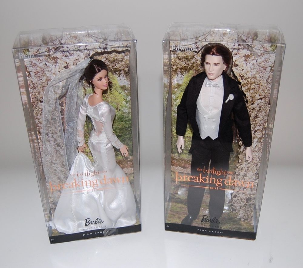 Barbie Pink Label Twilight Breaking Dawn Part 1 Wedding Set Edward and Bella NIB in | eBay