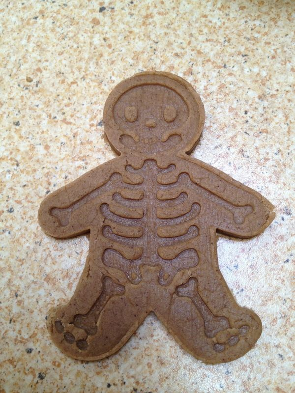 Gingerbread skeleton cookie cutter I got this to at