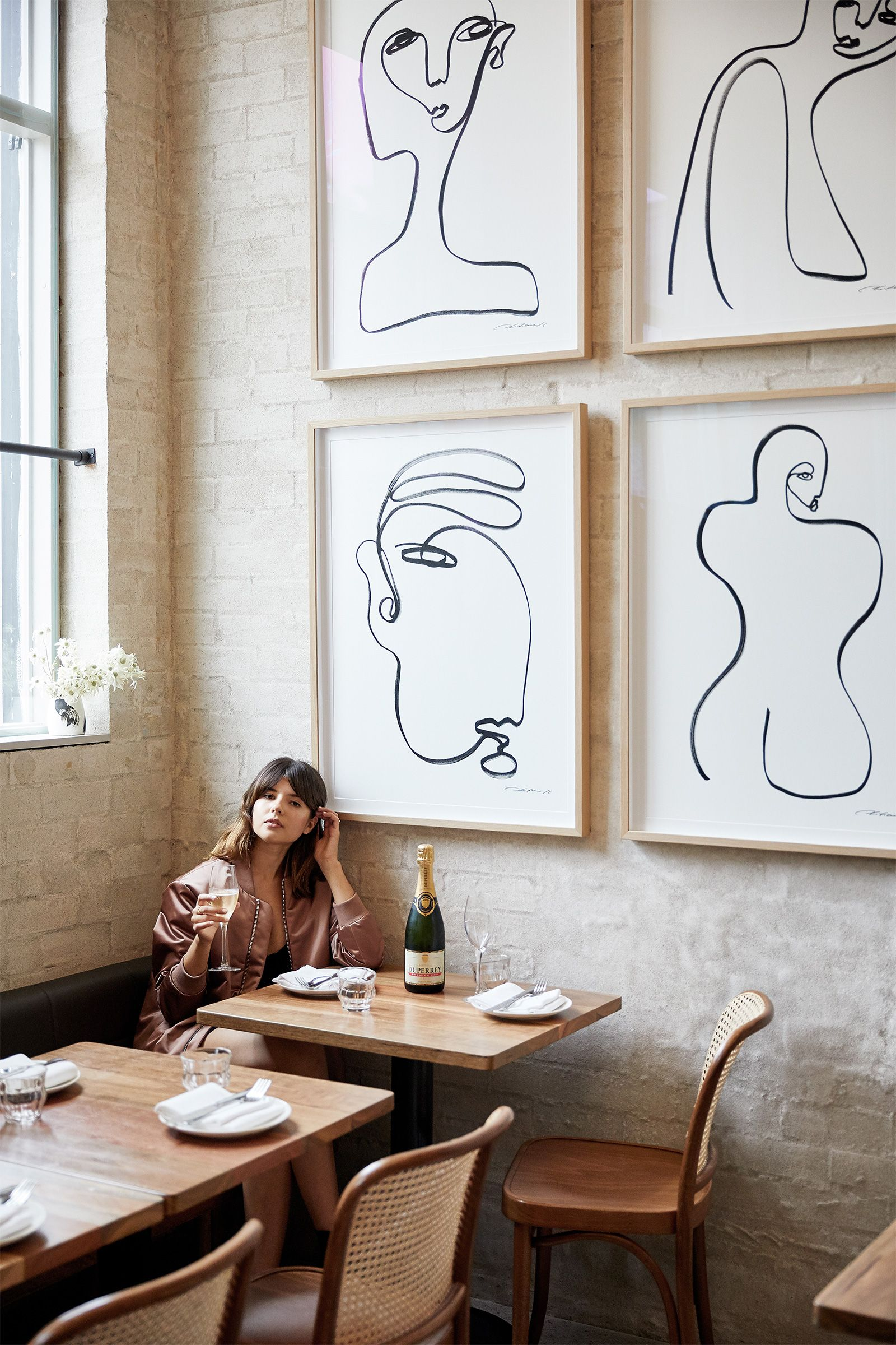 Modern restaurant line drawing cus s p a c e s pinterest