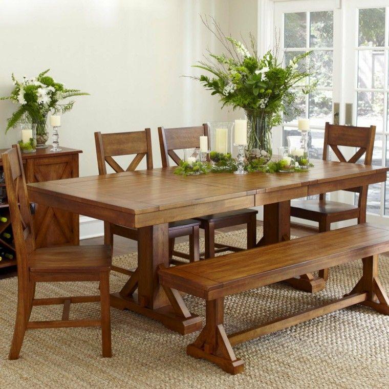 Mesas de comedor y sillas de comedor ideas excepcionales for Comedores modernos con banca