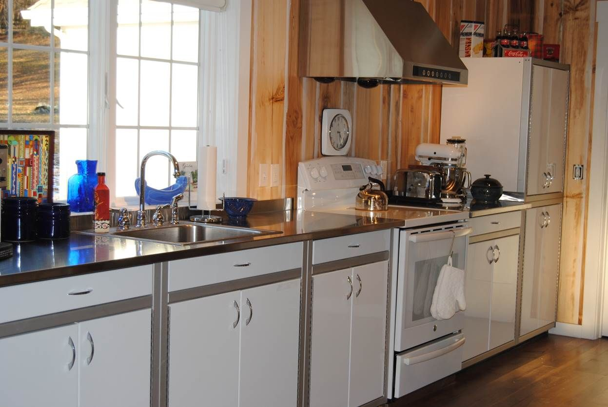 Moduline garage cabinets used in a high end kitchen. White ...