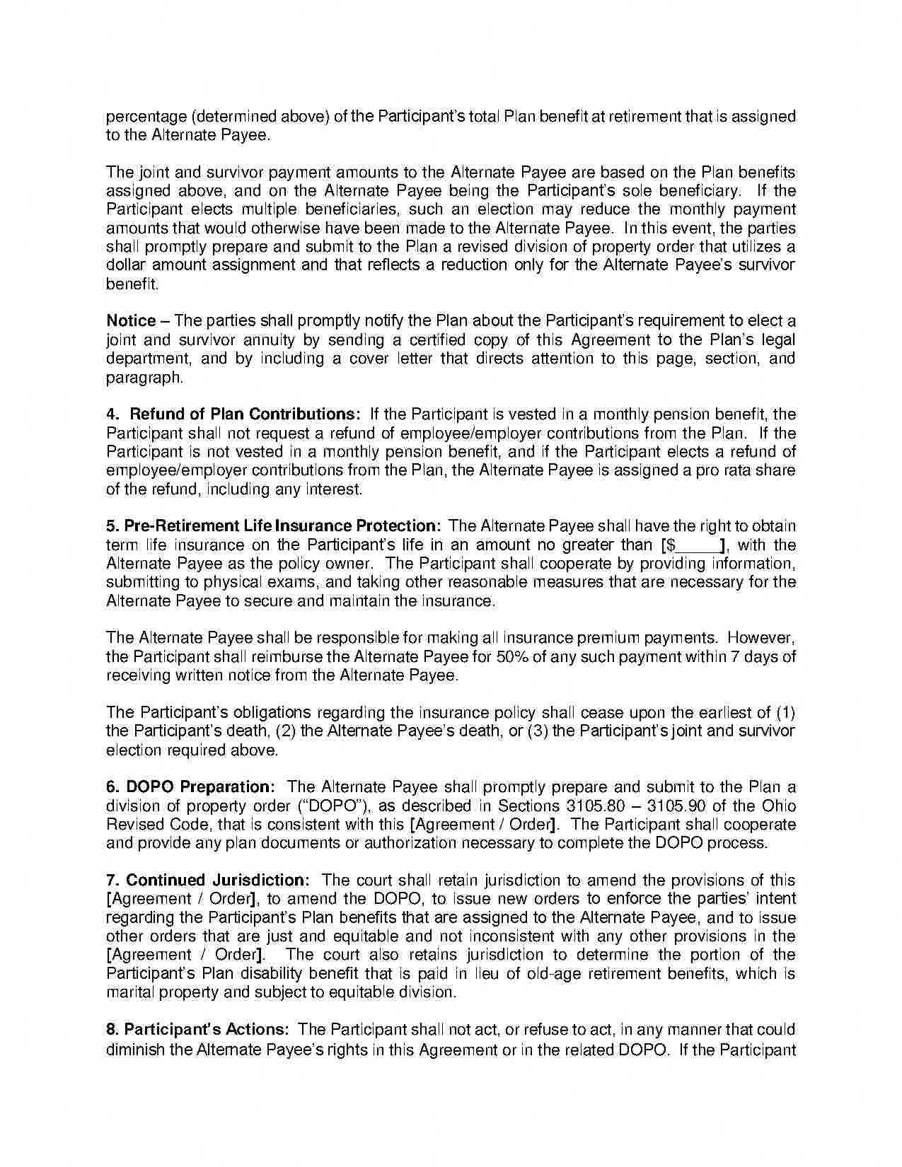 Separation Agreement Filingfordivorce Separation Agreement