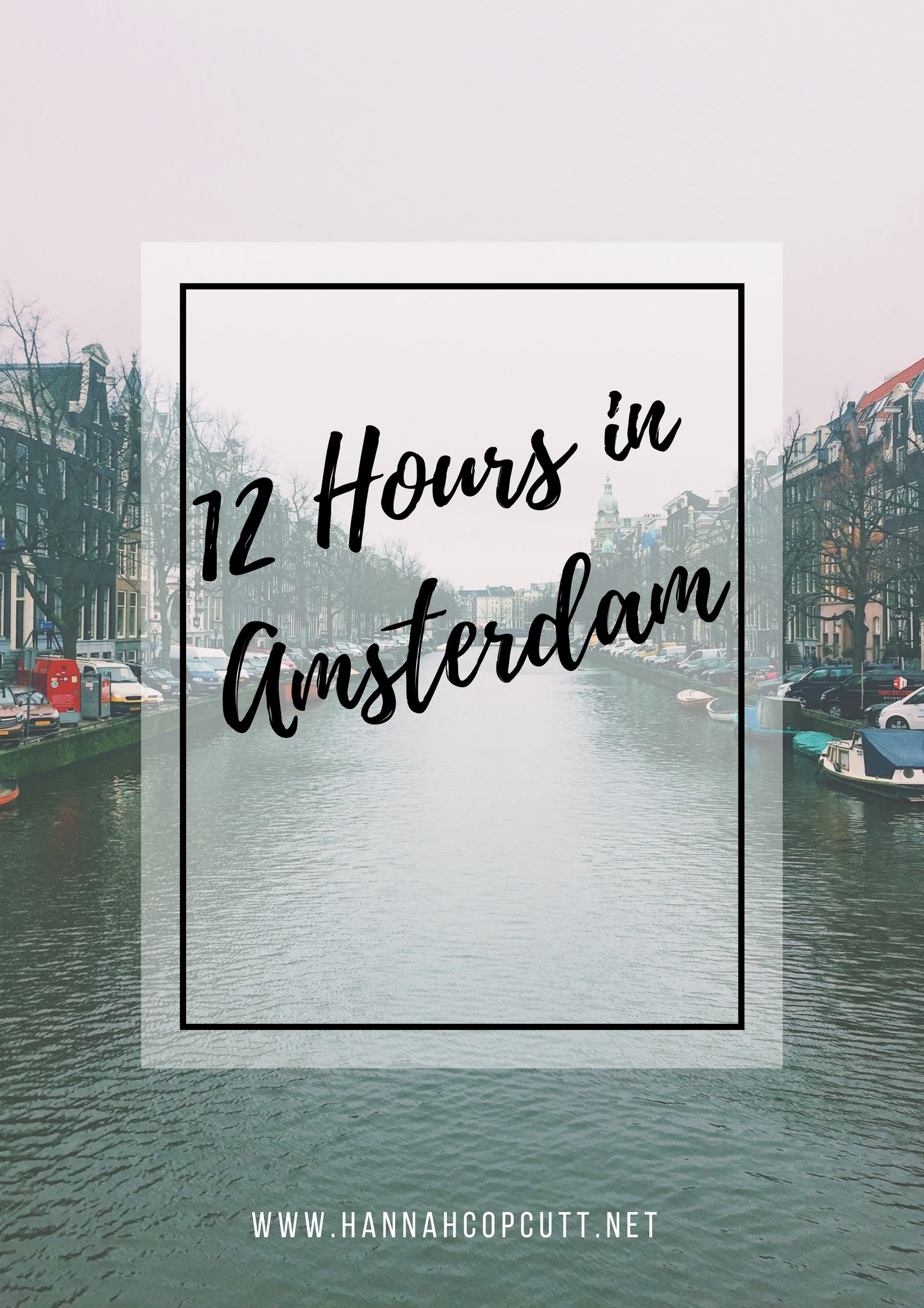 A few weeks ago I went to Amsterdam and here is what I got up to