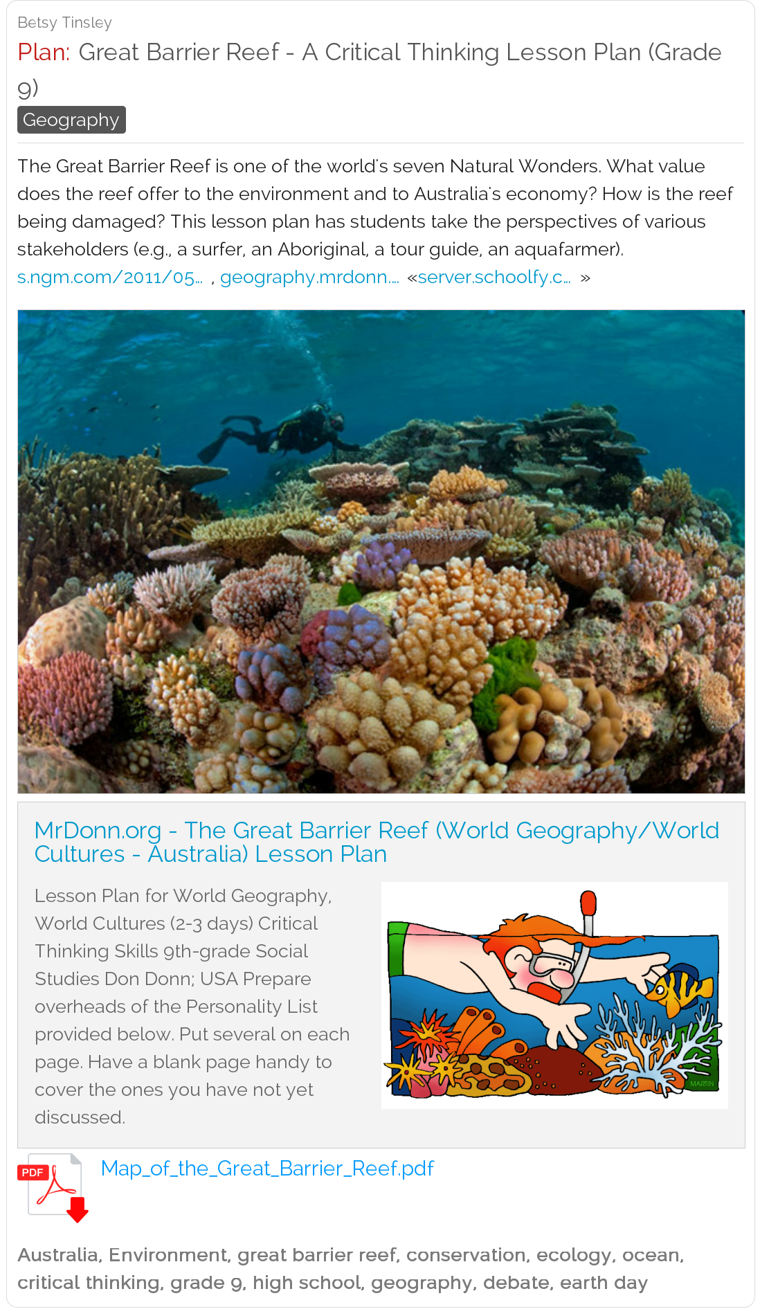 worksheet World Geography Worksheets High School pinterest the worlds catalog of ideas great barrier reef a critical thinking lesson plan grade 9 this lesson