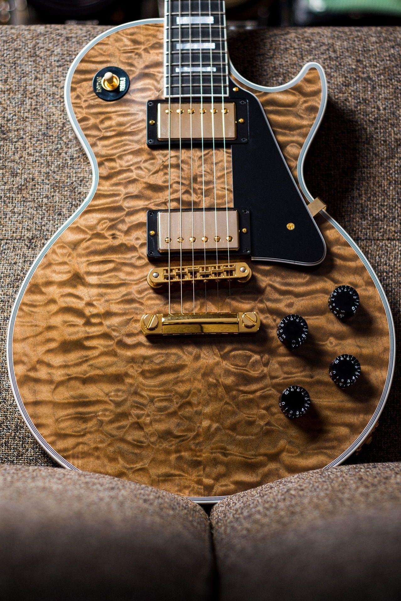 Gibson Les Paul Custom 3A Quilt Rust Burst #gibsonlespaul