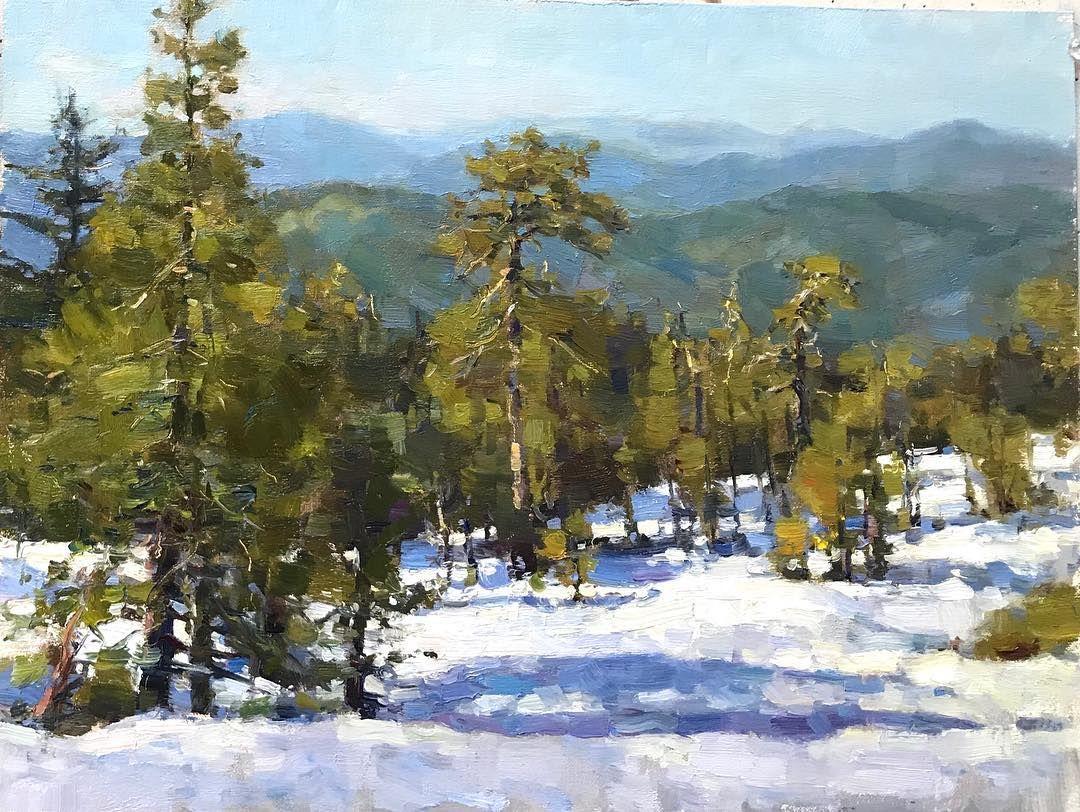 Jim McVicker, Horse Mountain, 12x16 plein air Jim