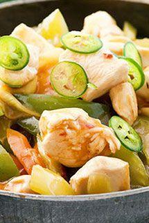 Wok de poulet au gingembre et chop suey de légumes