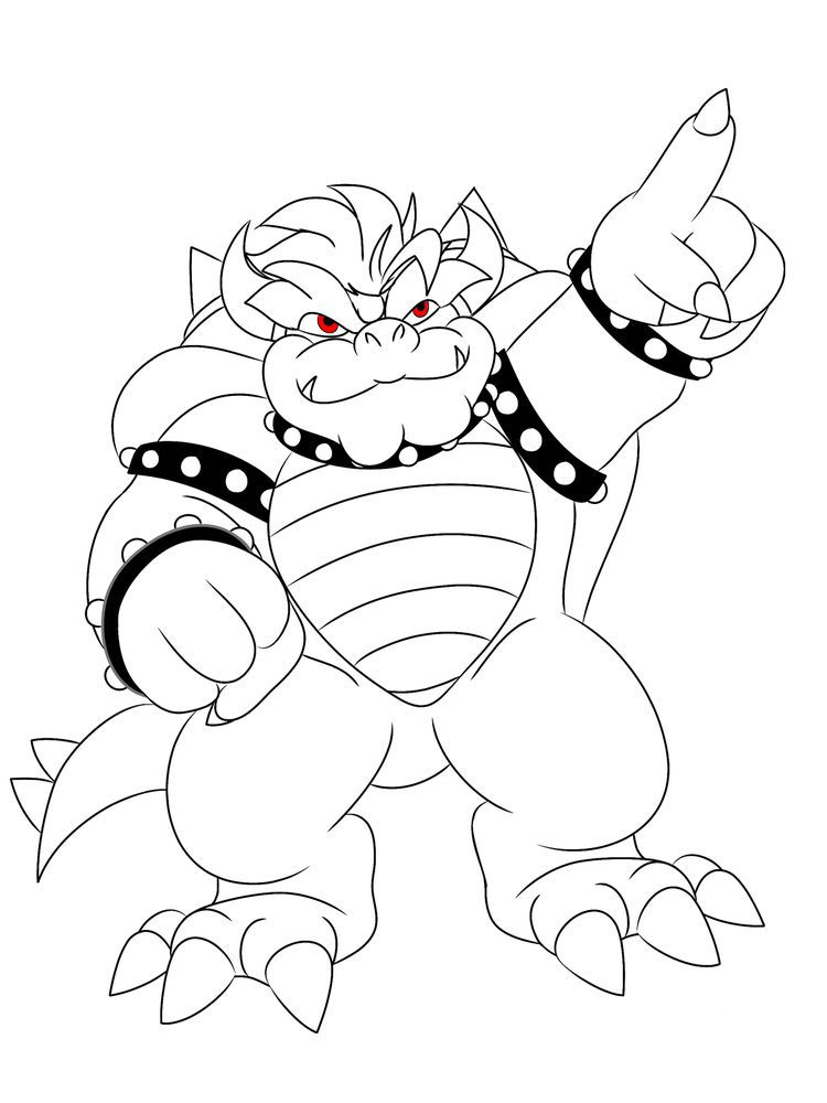 Giga Bowser Coloring Pages Coloring Pages Cartoon Coloring Pages Villain Character