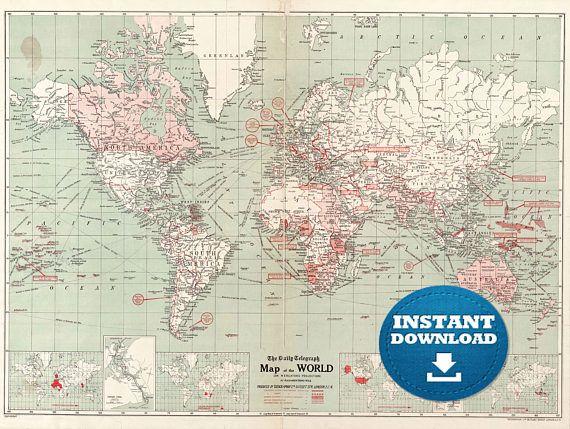 Digital old world map hight printable download vintage digital digital old world map hight printable download vintage gumiabroncs Image collections
