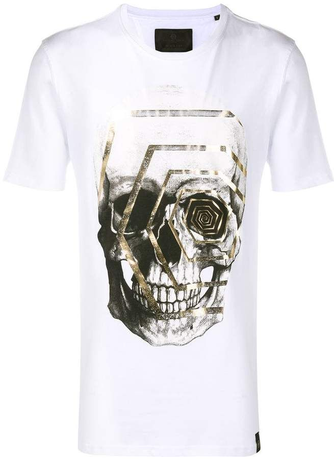 b6a664f53a Philipp Plein graphic skull print T-shirt | vetement in 2019 | Skull ...