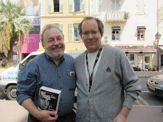 Gerald Nicosia with Chicago film critic Patrick Z. McGavin, on the Rue du Bivouac Napoleon, near the Palais, Cannes.