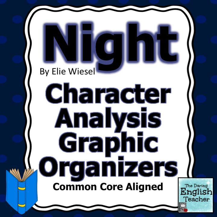 Night by Elie Wiesel Character Analysis Graphic Organizers - character analysis