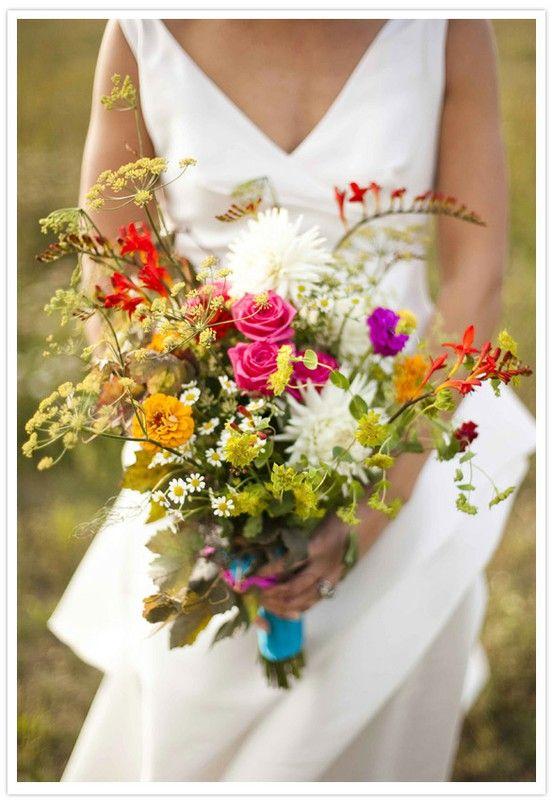 wedding flowers wild flower wedding bouquets