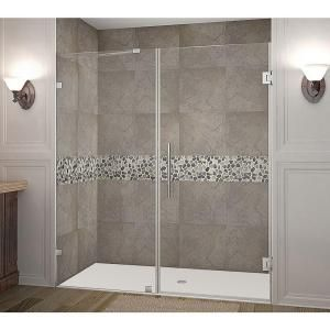 Aston Nautis 72 In X 72 In Completely Frameless Hinged Shower Door In Chrome Sdr985 Ch 72 10 Bathroom Remodel In 2019 Frameless Shower Doors Shower Doors Tub Shower Doors