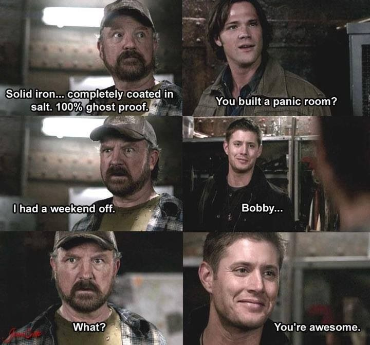 Bobby's panic room  #Supernatural To say that Bobby is