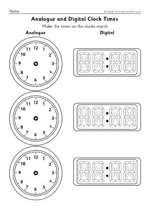 Printable Clock Face Template Business Reloj Digital Reloj
