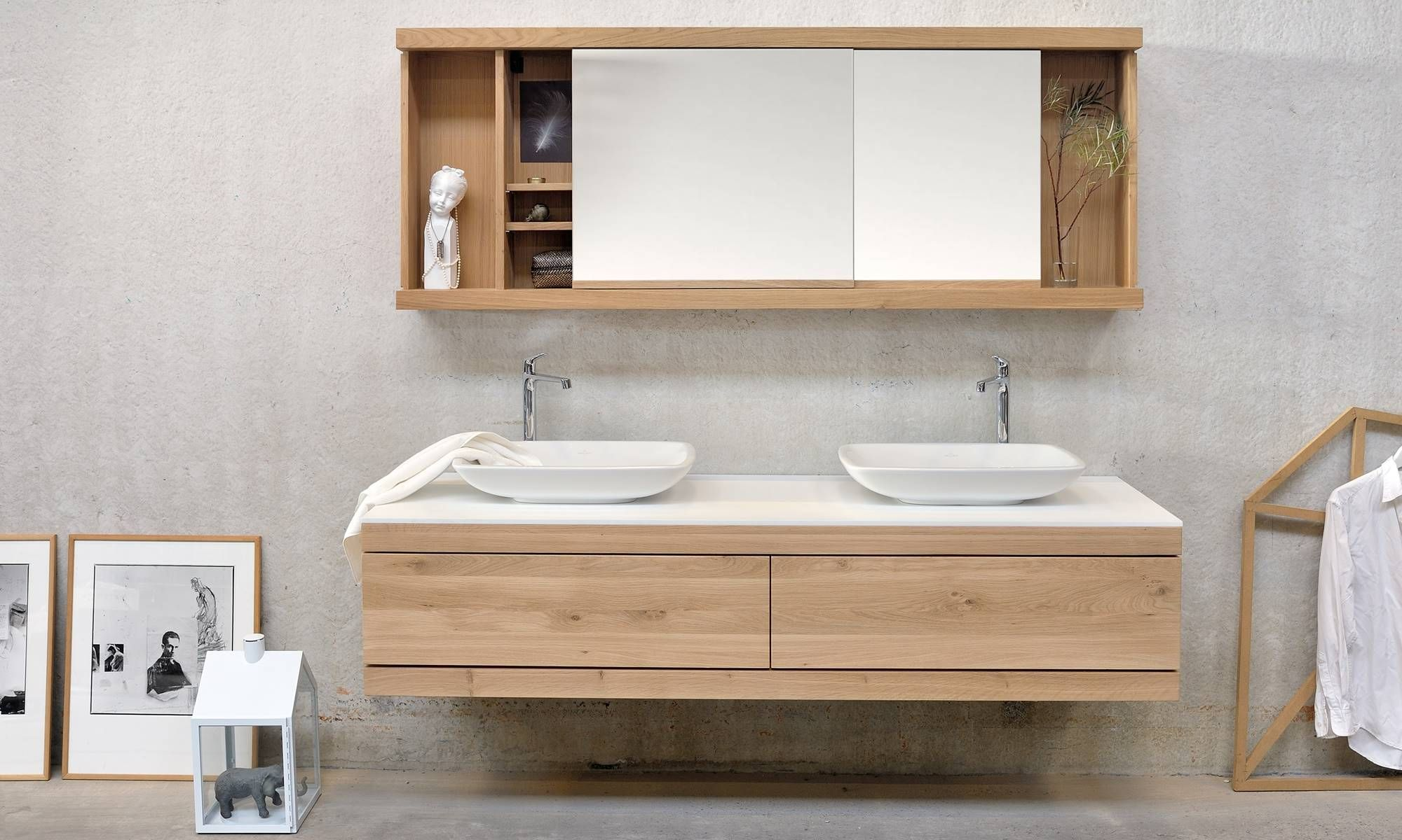 Bad Spiegelschrank Holz Ethnicraft Bathroom The Timeless Beauty Of Solid Wood Bad