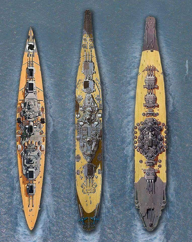 Bismarck, Iowa, Yamato | Warships of WWII | Uss iowa, Us battleships