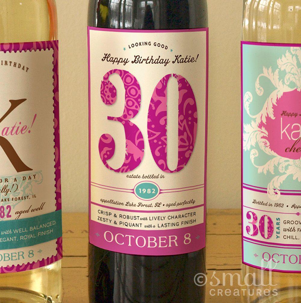 Expansión Articulación Honestidad  Botellas con etiquetas personalizadas. | Birthday wine bottles, Birthday  wine label, 40th birthday wine labels