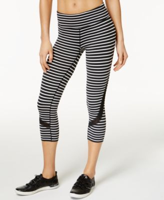 6664345adb2eb CALVIN KLEIN Calvin Klein Performance Mesh-Trim Striped Cropped Leggings. # calvinklein #cloth # pants
