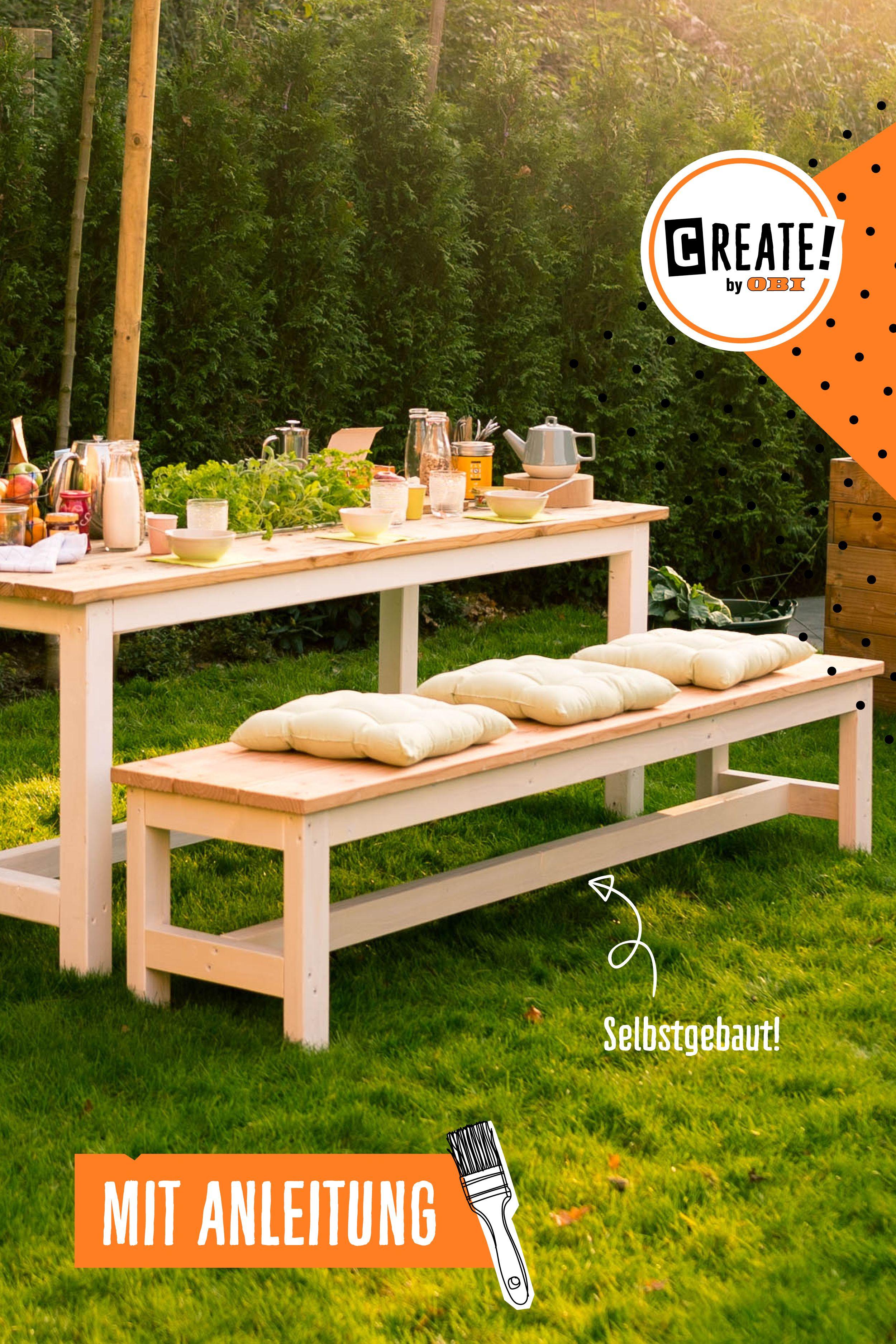 Gartentisch Richard Create By Obi Gartenmobel Selber Bauen Gartentisch Selber Bauen Gartentisch