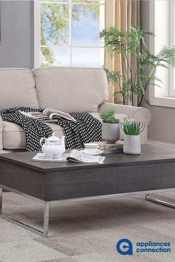 Iban Collection 2 Pc Living Room Table Set With 47 Coffee Table