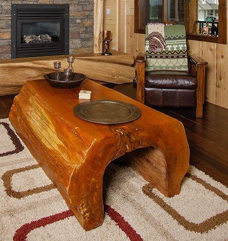 Custom Log Coffee Table By Pioneer Log Homes Www.pioneerloghomesofbc.com