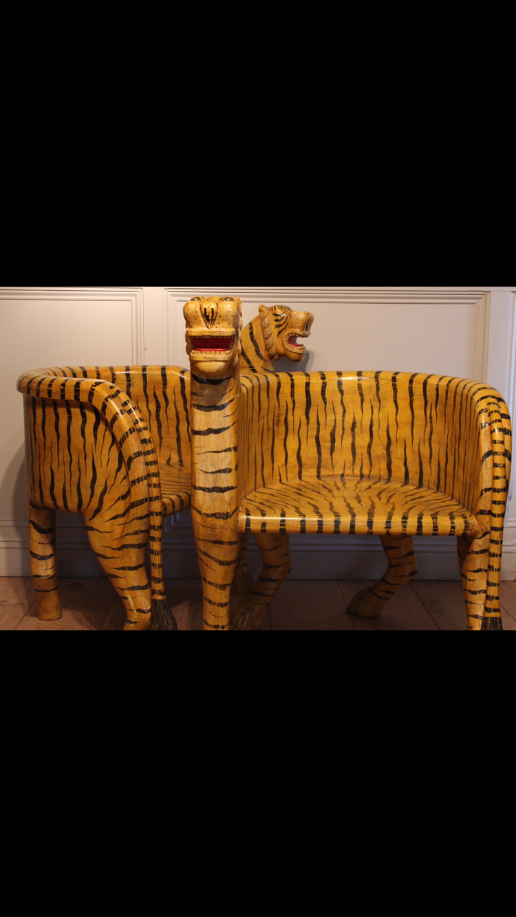 Tiger stylised wooden tub chairs | Chairs | Pinterest | Tub chair ...