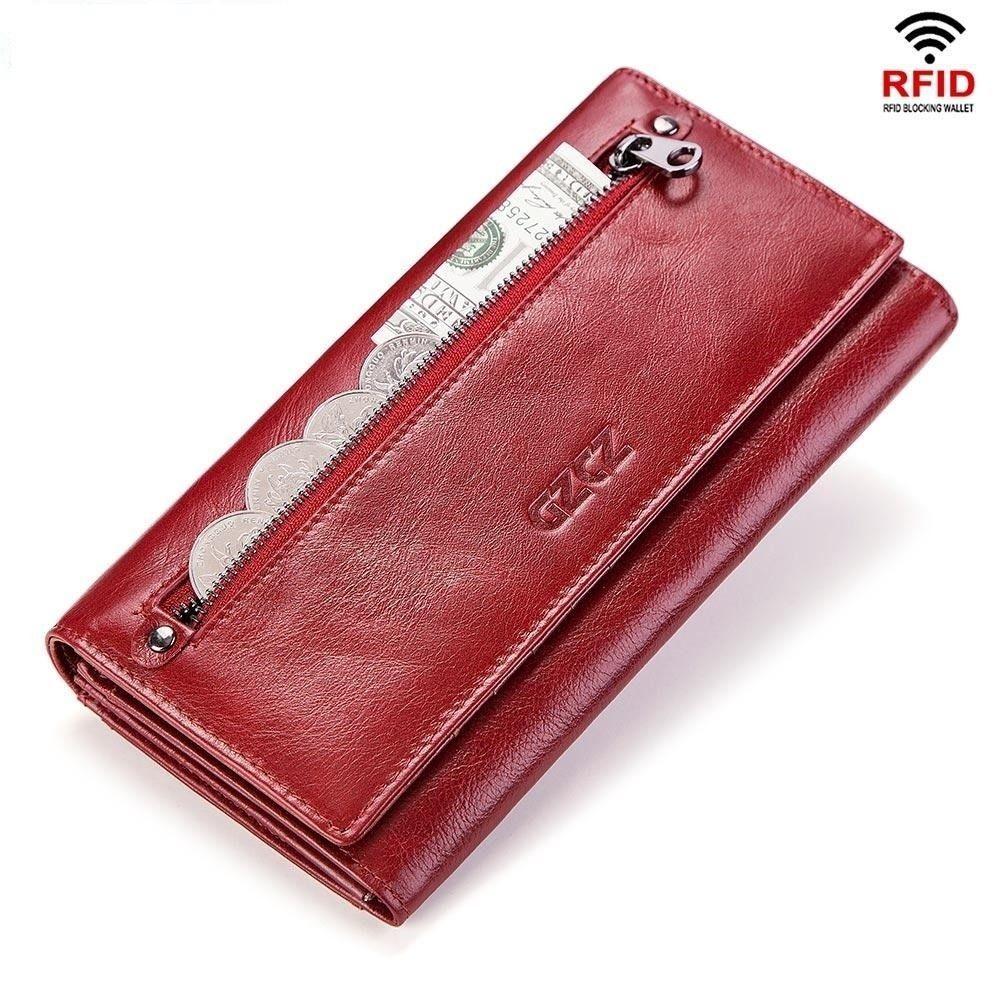 d809ce34091f M GZCZ Fashion Wallet Women Genuine Leather Coin Purse Portomonee ...