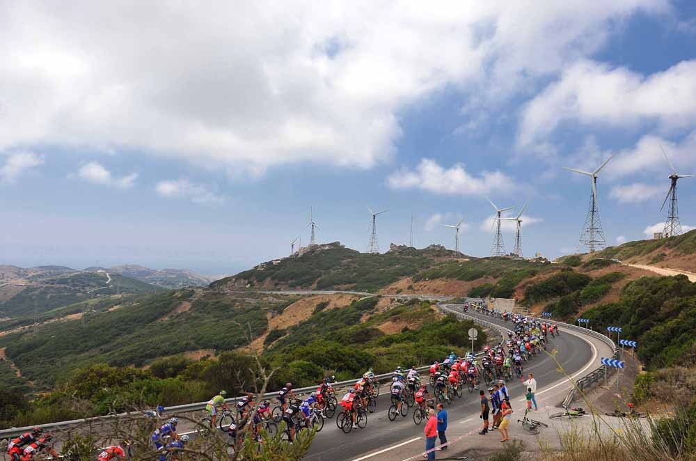 Gallery: 2014 Vuelta a Espana, stage 2 - There's a reason for that wind farm. It's windy here. Photo: Tim De Waele | TDWsport.com