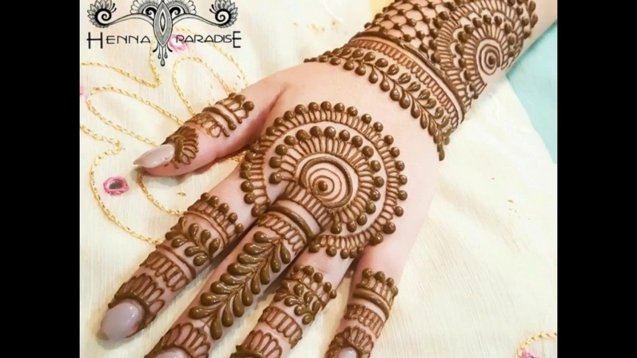 a4a37f9f48f Simple Floral Arabic Henna Mehendi Mandala new video