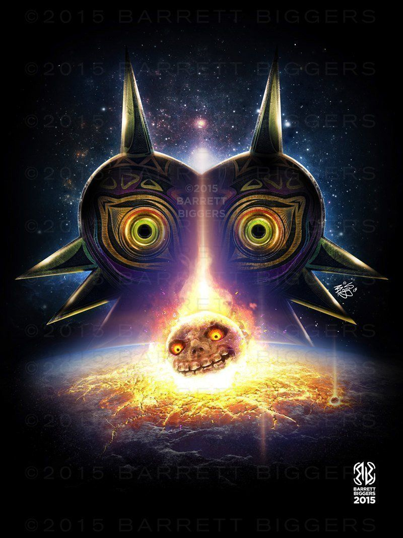 Legend of zelda game inspired majoraus mask moon fall game movie