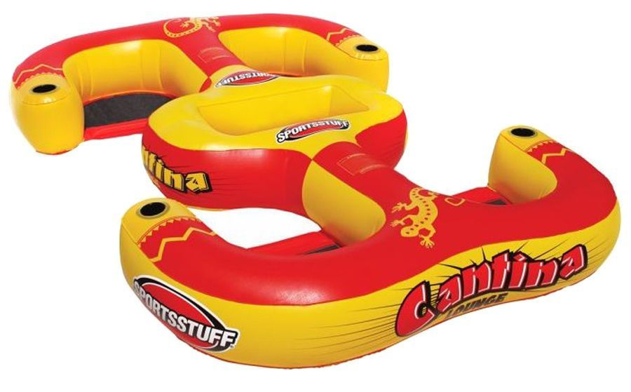 SPORTSSTUFF Cantina Lounger 4-Person Inflatable Pool Beach Lake Raft | 54-2025 #Sportsstuff #Inflatablerafts