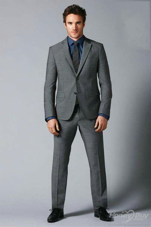 Groom Best Man Light Grey Wedding Suit Ideas With Dark Green Tie ...