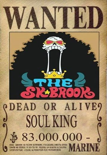 Brook Dressrosa Wanted Poster   King Of The Pirates ...