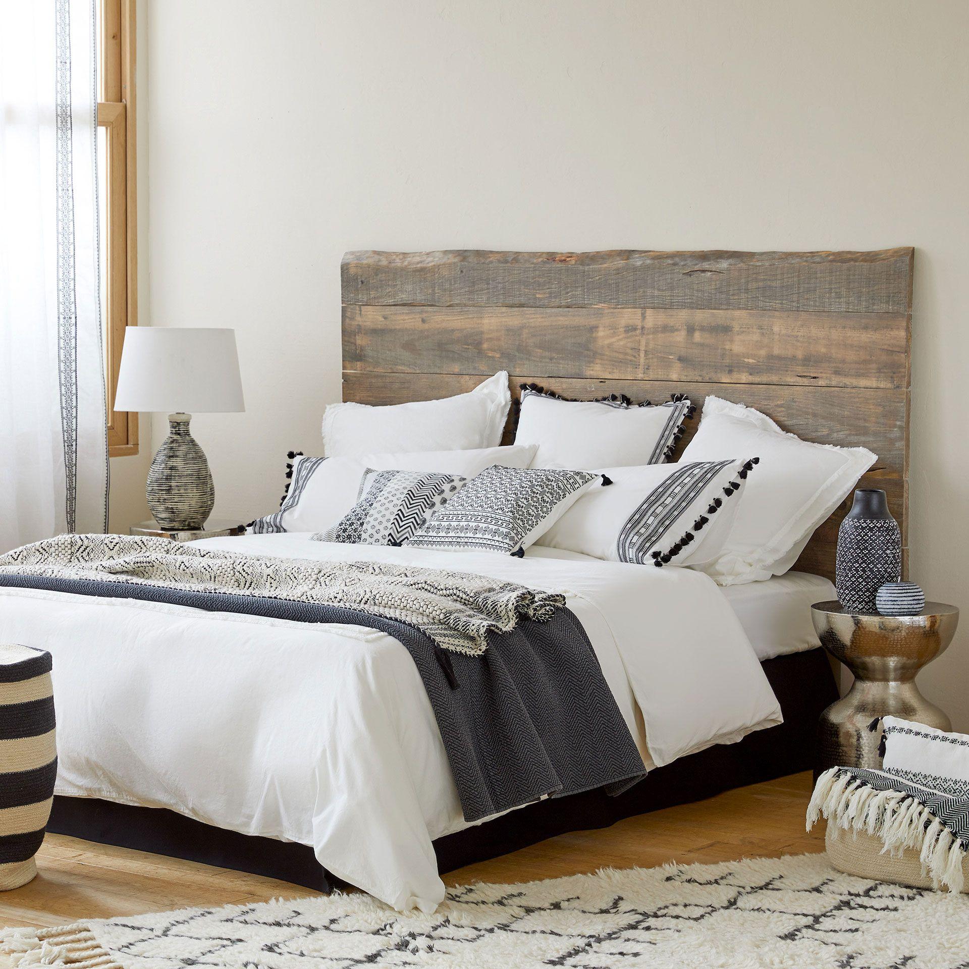 housse de couette coton percale lav double frange. Black Bedroom Furniture Sets. Home Design Ideas