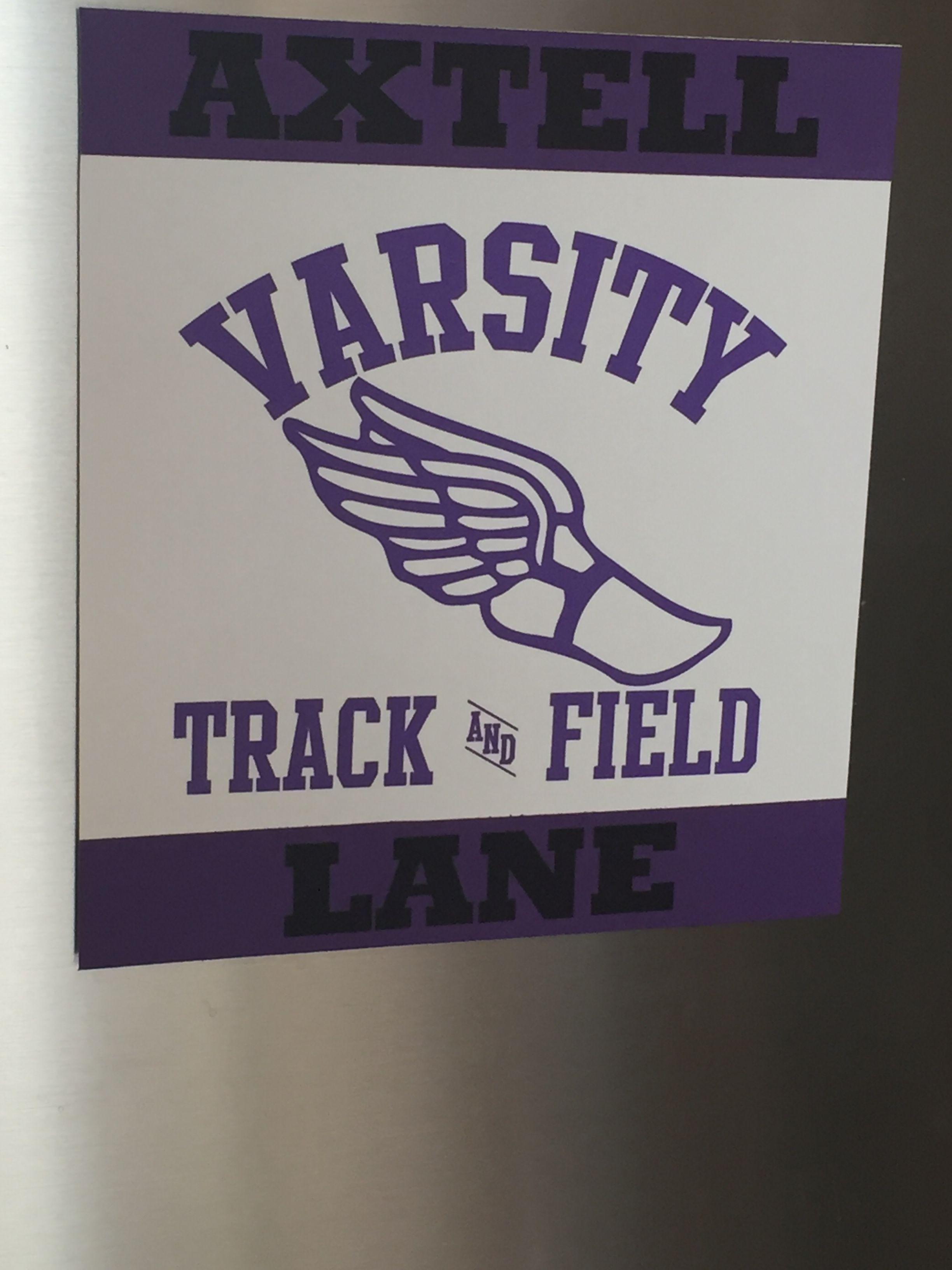 track and field locker tag school spirit pinterest locker tags