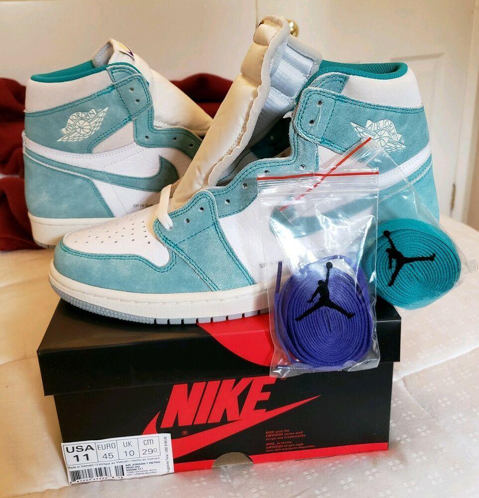 Nike Air Jordan 1 Retro Hi Og Turbo Green Sail White 2019 Size