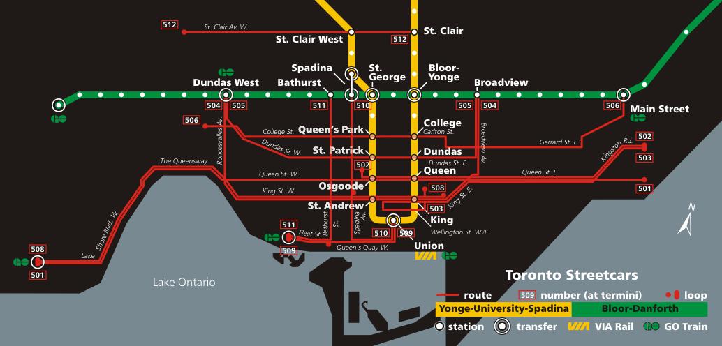 Subway Map Canada Toronto.Toronto Streetcar System Urban Transportation In 2019 Toronto