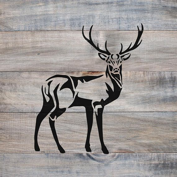 Deer Stencil - Reusable DIY Craft Stencils of a Buck Deer