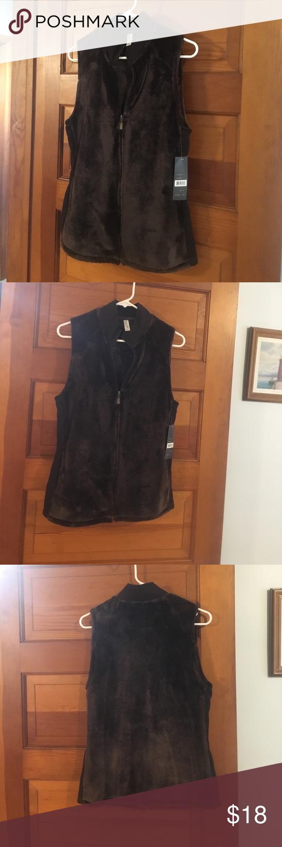 Exertek dark brown soft vest fall weather dark brown and comfy