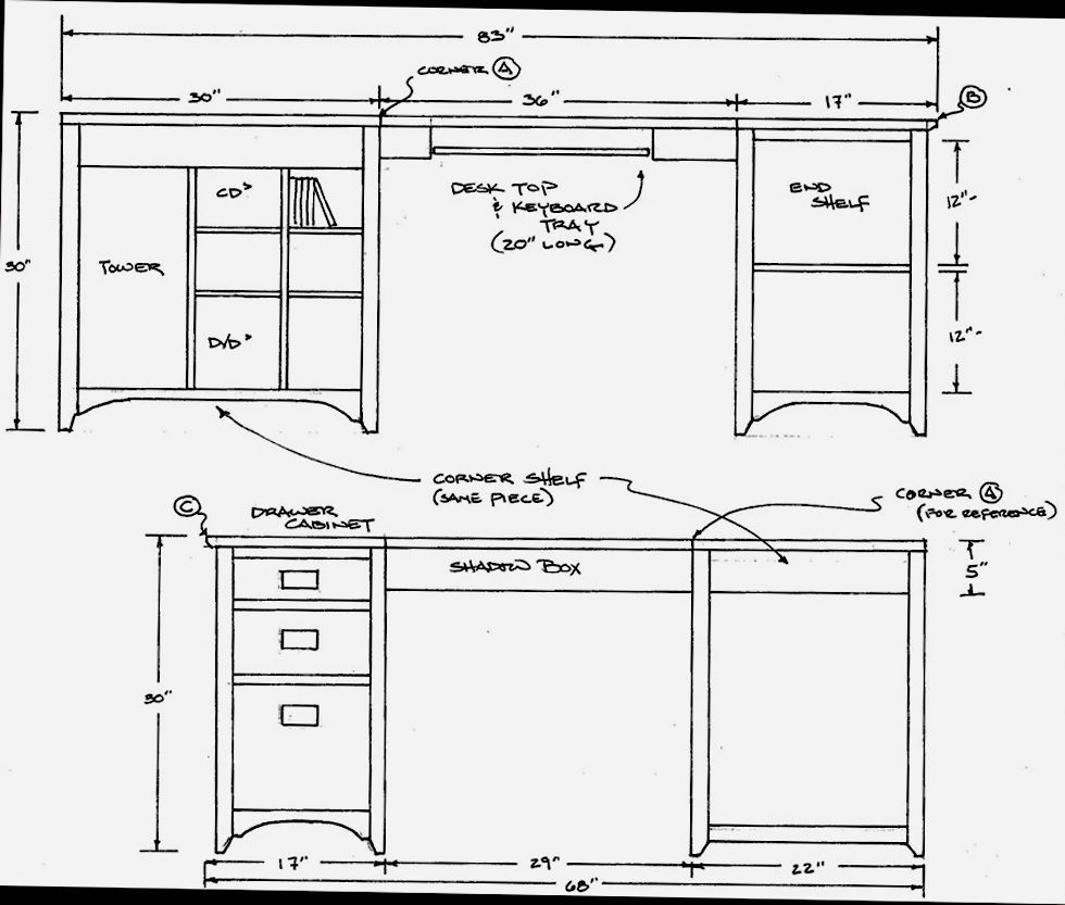Furniture plans desk tools and woodworking pinterest desk furniture plans desk malvernweather Choice Image