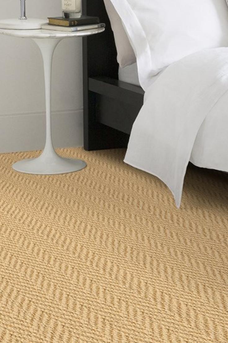 Coir Herringbone Bleached Natural Carpet Looks Great As A Custom Made Rug Or Runner In The Bedroom Natural Carpet Alternative Flooring Bedroom Carpet