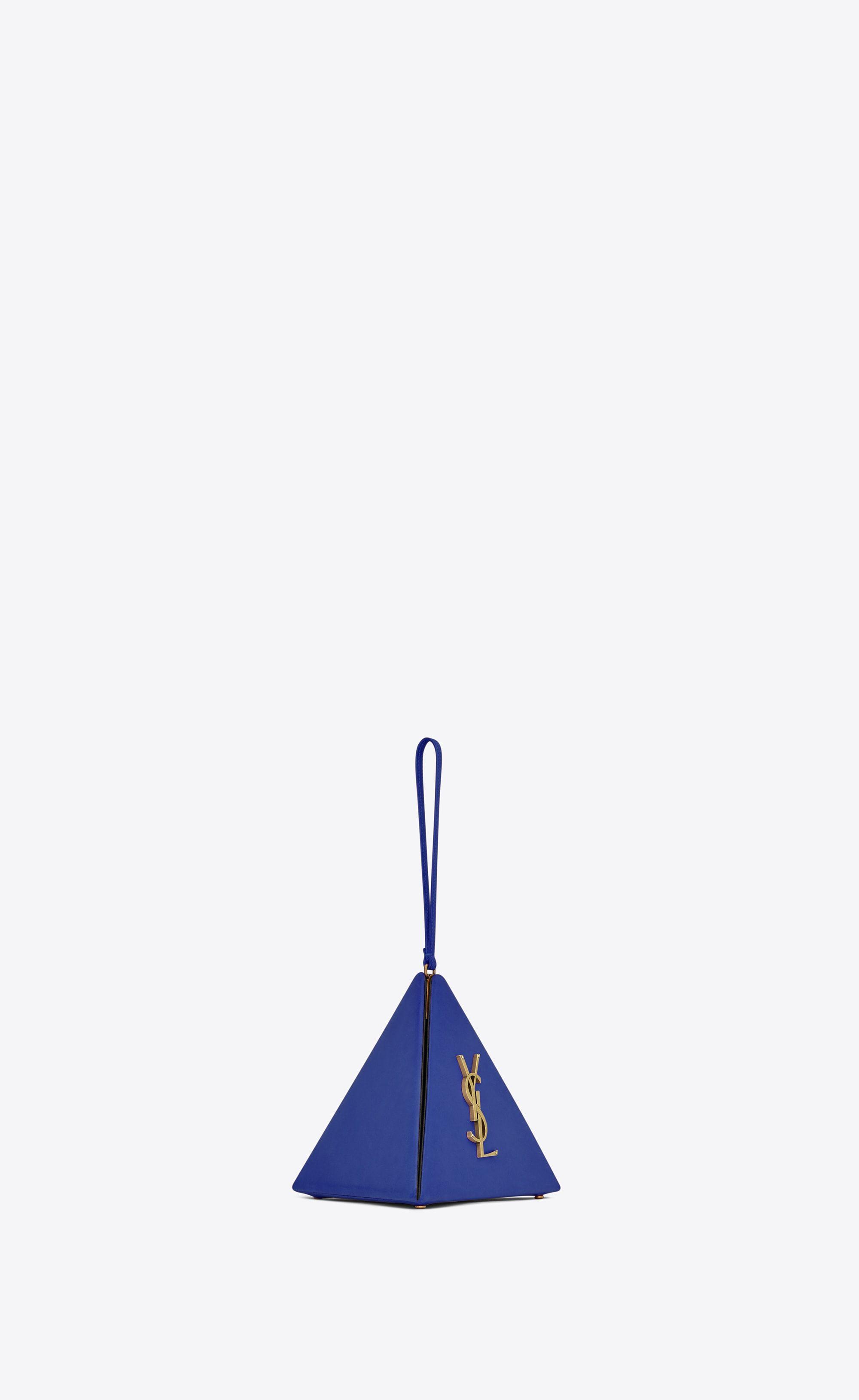 cd0a0b1adf Saint Laurent - Pyramid box in purple blue lambskin ($1,450 ...
