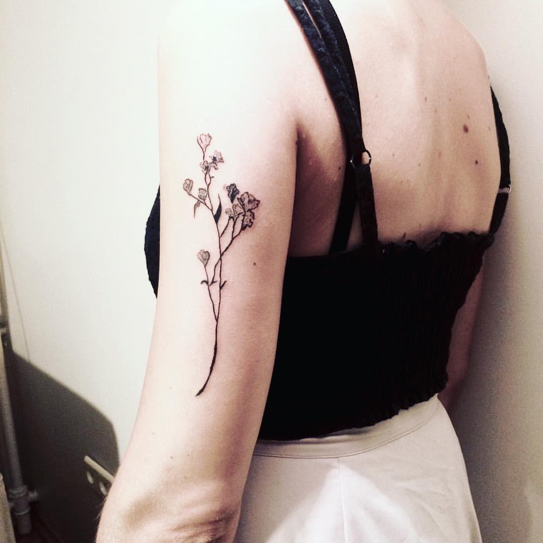 Thin Linework Flower Tattoo Flower Tattoo Tattoos Tattoos For Guys