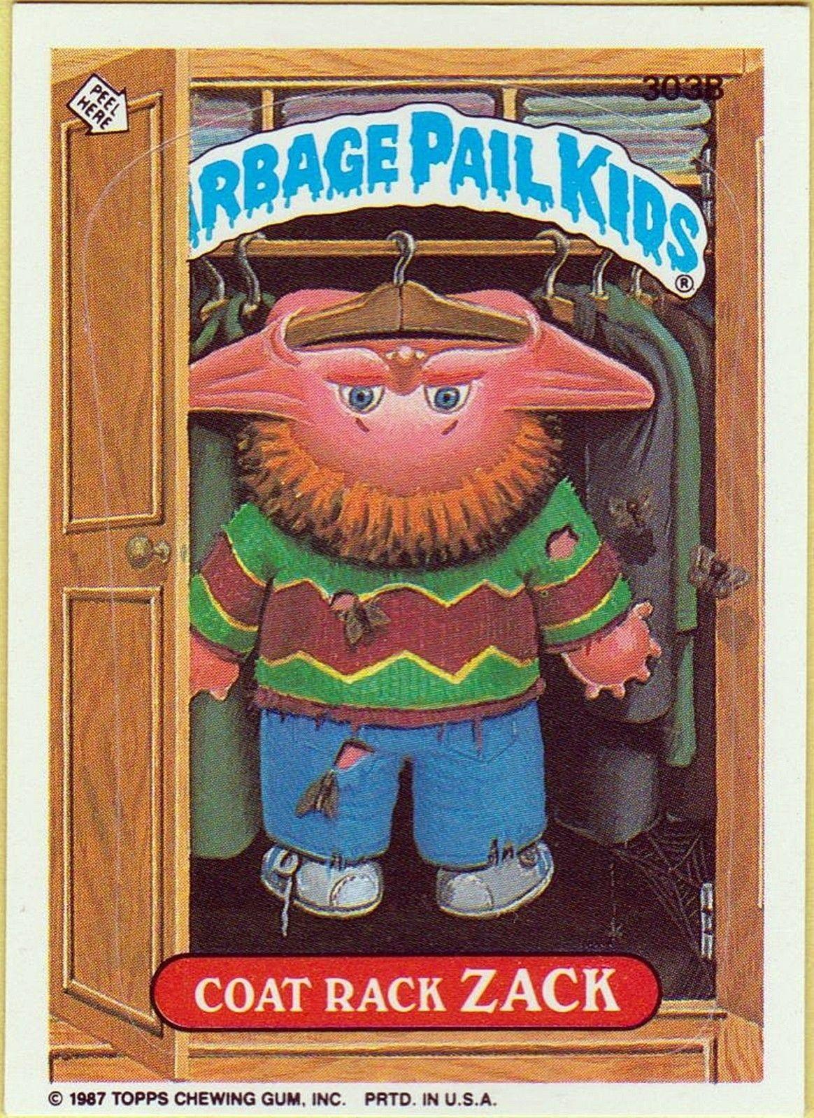 Coak Rack Zach Series 8 Os Garbage Pail Kids Garbage Pail Kids Cards Pail