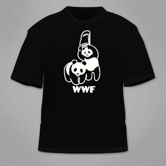WWF Panda TShirt. Funny World, Shirts and Funny