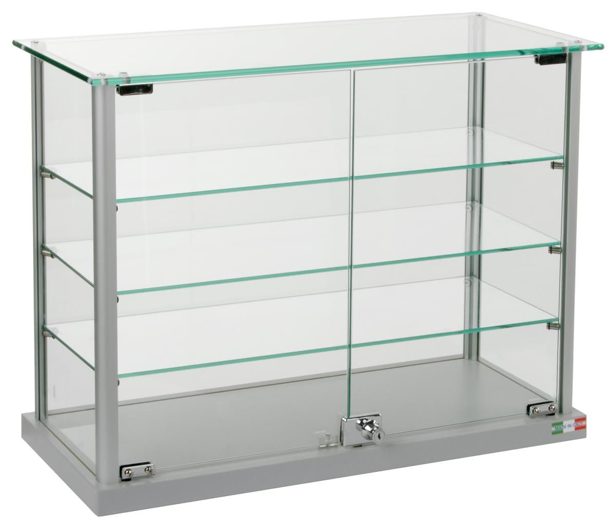 Countertop Display Case W Glass Canopy Top 3 Shelves 2