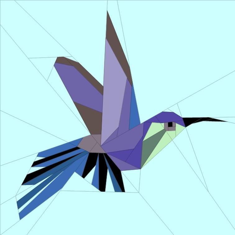 free quilt pattern hummingbird block
