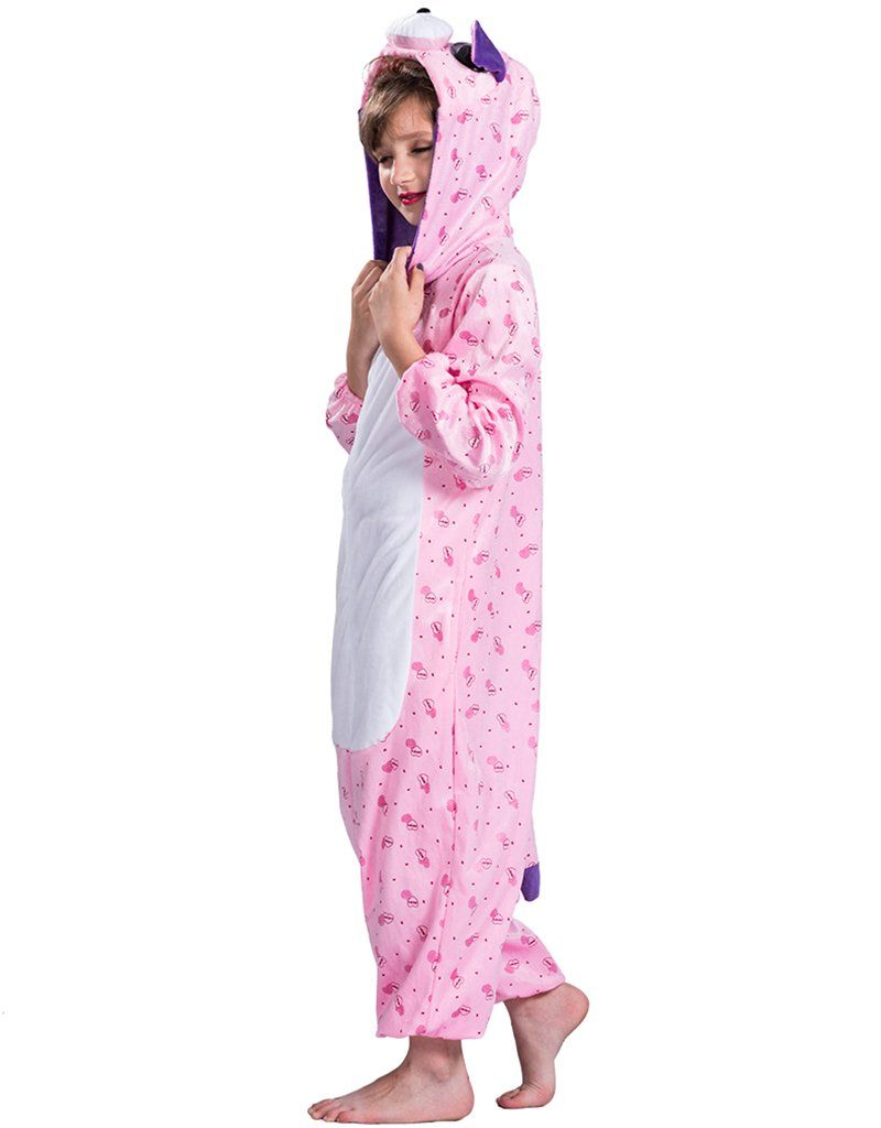 8849da1af Girls Cat Pajamas Halloween Costumes Cute Pink Christmas Cosplay Costume  Hooded Onesies Small ** Check out extra at the image link.